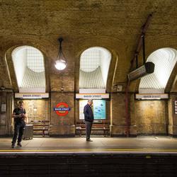 Londen - metrostation Bakerstreet - 01