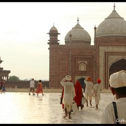 People at the Taj