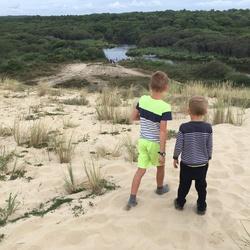 Jongens in de duinen