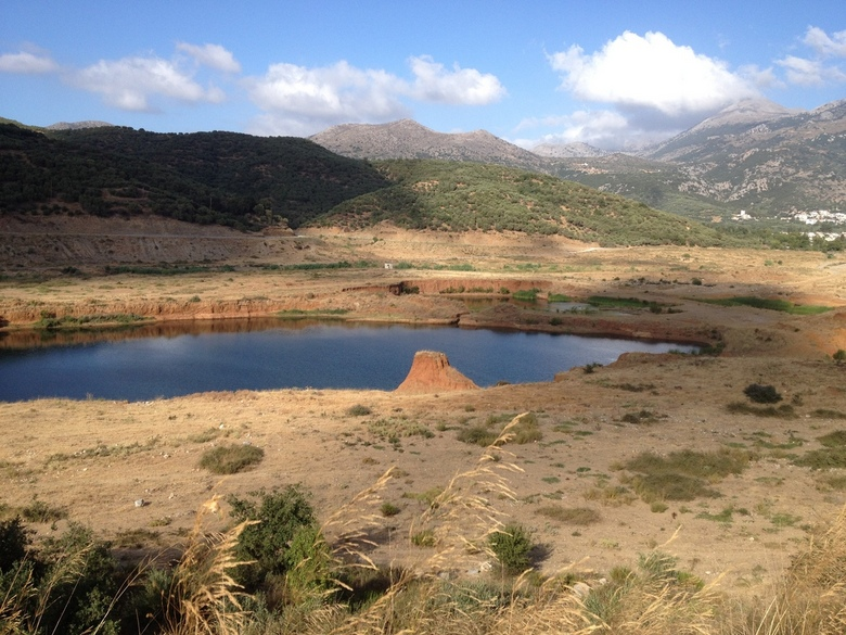 Op weg naar lassithi plateau -