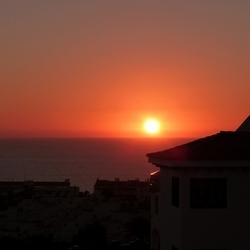 de zon in de zee zien zakken...............