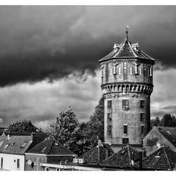 Wolken rond de Watertoren