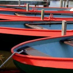 De haven van Cnossen aan het Zulthermeer in Nietap