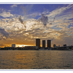 Sunset over Rotterdam