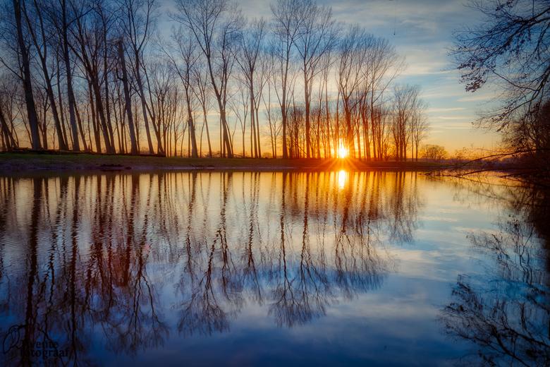 De Regge - Zonsondergang bij de Midden Regge