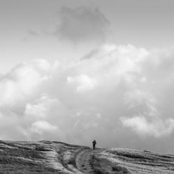 Hiker on Tan Hill