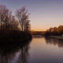 Zonsopgang in het Beatrixpark