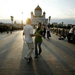 Moskou Dansen op de brug