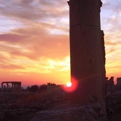 zonsopgang Palmyra, Syrië