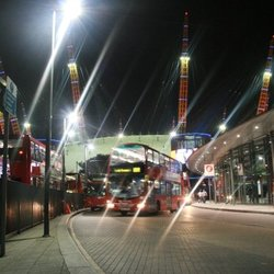 Twinkly lights at North Greenwich London