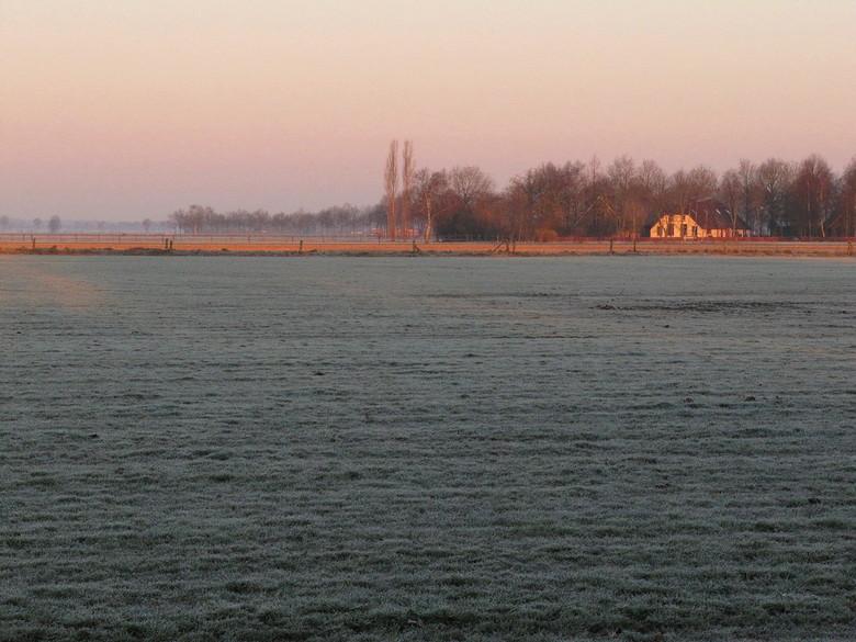 ochtendrijp - ochtendrijp in maart, voordat de lentezon op kracht is.