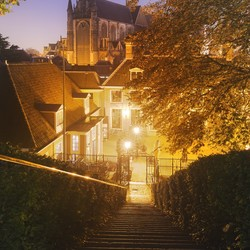 Stairs to the church Leiden