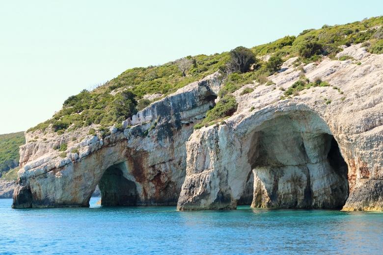 Blue Caves Zakynthos 3 - Foto genomen tijdens een boottocht langs Blue Caves op Zakynthos