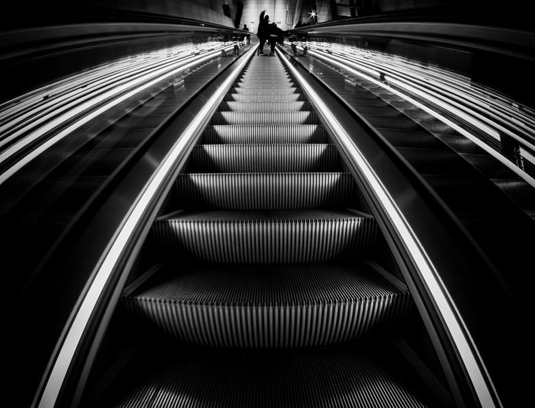 De weg omhoog,,, - Noord-Zuid lijn Amsterdam