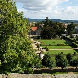 De baroktuin met het