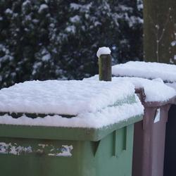 Kliko's in de winter