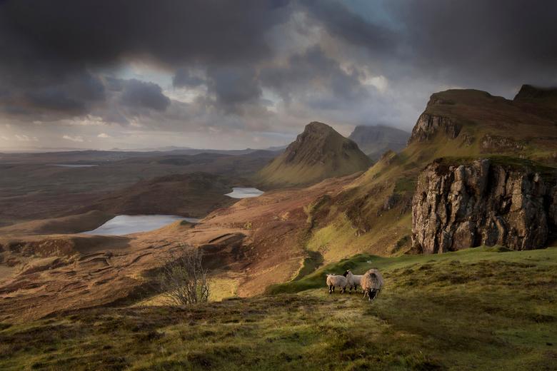 Quiraing - De Quiraing is de naam van een aardverschuiving in het Noordoosten van het Schotse eiland Skye.