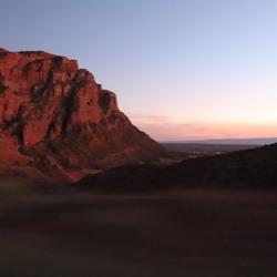 sunset mountain