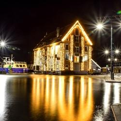 Haven van Oudeschild op Texel bij nacht ;)
