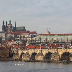Praag, St Vitus Kerk, Burcht en Karlsbrug