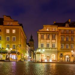 Warschau - Plac Zamkowy (Slotplein) - Piwna