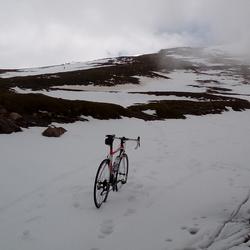 Pico Veleta Spanje einde fietspad