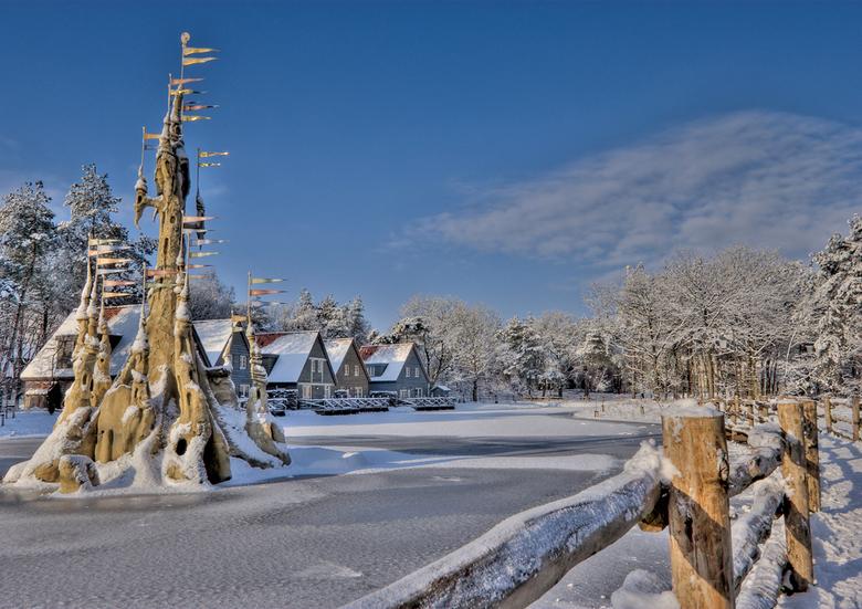 Bosrijk - Efteling - Het winterlandschap in Bosrijk. Bosrijk is het bungalowpark van de Efteling.