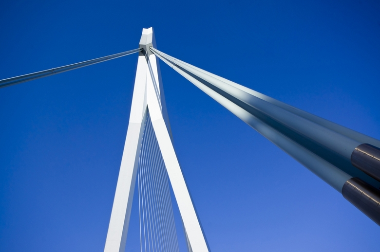 Arrow for the sky - Architectural photographs of the Erasmus bridge in Rotterdam Netherlands Shot with sony alpha 580 with sigma 10-20 F4-5.6