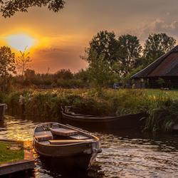 beautiful sunset at Giethoorn--2