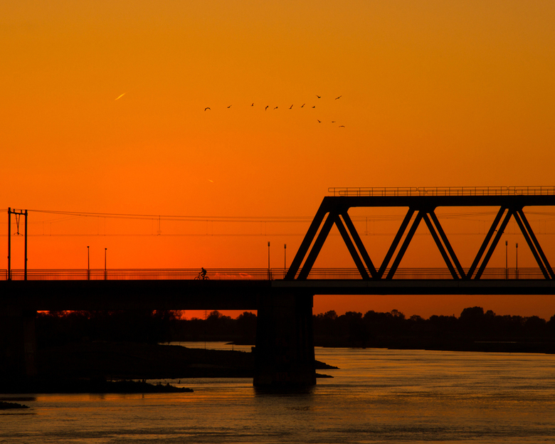 Deventer zonsondergang