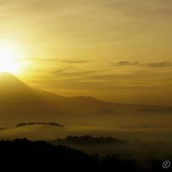 Sunrise Merapi vulcano