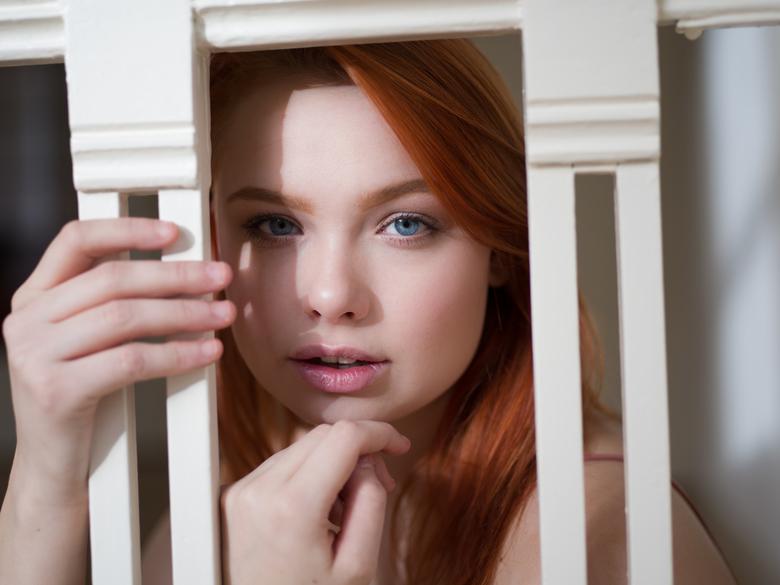 Those eyes - Blue eyes, red hair