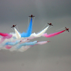 Dark Red Arrows