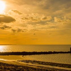 Zonsondergang, Brouwersdam