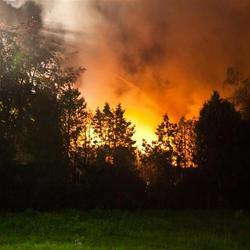 Brand in kraakpand te Vaassen. (31-08-2011)