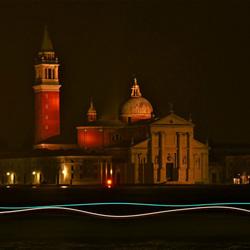 Zicht op het eiland San Giorgio Maggiore