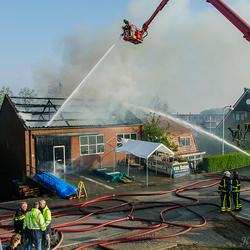 Grote brand Timmerbedrijf Papendrecht