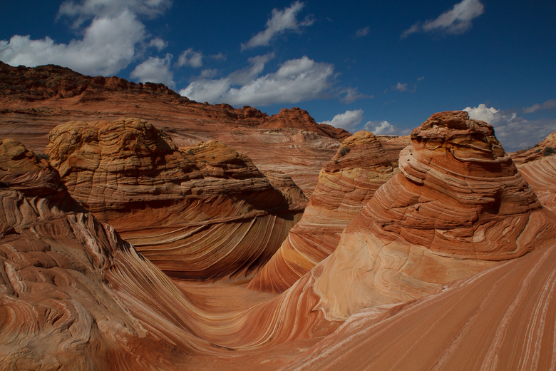 The Wave USA - Het meest bijzondere landschap dat ik ooit heb bezocht. De zeer kwetsbaar Navajo Sandstone heeft prachtige kleuren en de vorm is uniek.