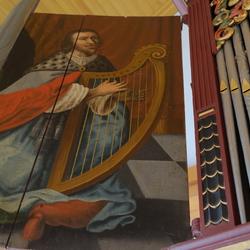 linker luik van het orgel kerk Midwolde