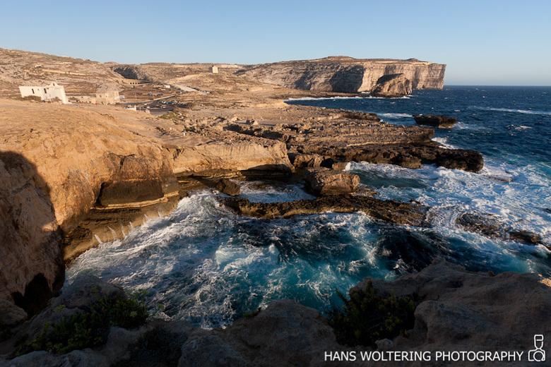 Dwejra Malta - Deze foto is gemaakt vanaf het 'Azur Window', een natuurlijke boog van rots de aan de westkust van Gozo staat. Deze boog is z