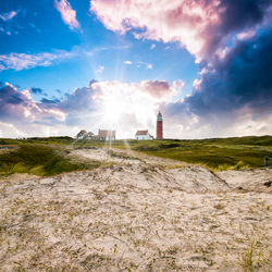 Zonsondergang op Texel 29-04-2016