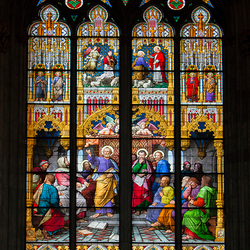 Nog een glas in lood raam in Dom van Keulen