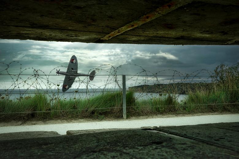 Spitfire vanuit bunker -