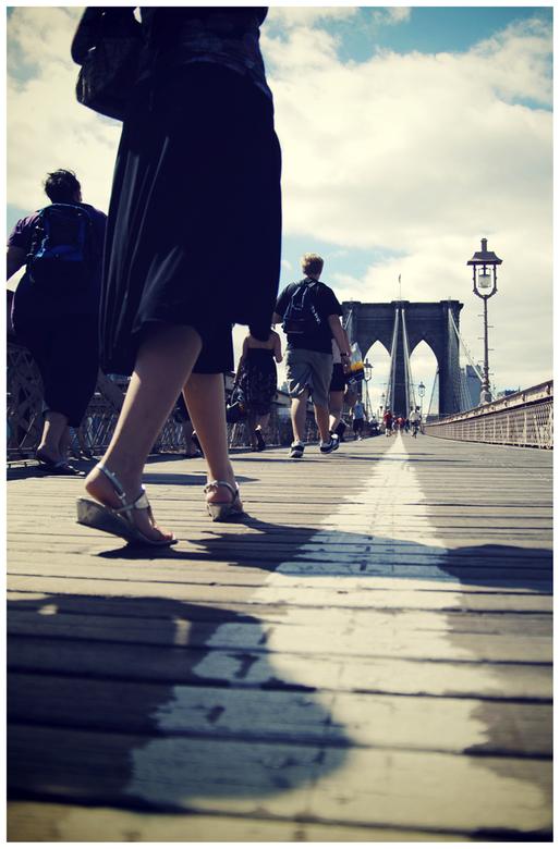 Walking over the bridge - The Brooklyn Bridge