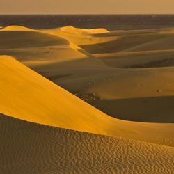 1. Gran Canaria: de duinen van Maspalomas vlak voor  zonsondergang.jpg
