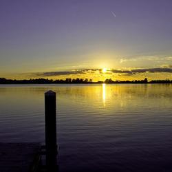 Zonsondergang bij Noord Aa in Zoetermeer