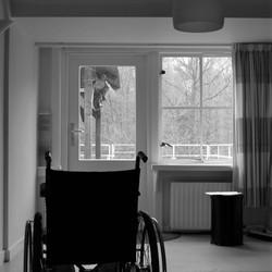 Alleen nog stilte in deze verlaten psychiatrische kliniek