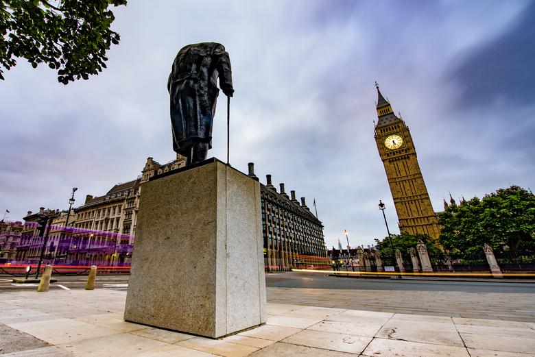 Good morning London - Parliament Square vroeg in de morgen