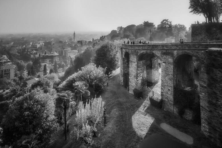 Naar de Città Alta ZW - Bergamo, Italië