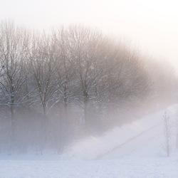 opkomende winter mist